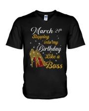 March 24th V-Neck T-Shirt thumbnail