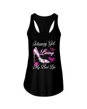 February Girl Living My Best Life Ladies Flowy Tank thumbnail