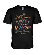May 24th V-Neck T-Shirt thumbnail