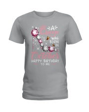 A Queen Was Born In October Ladies T-Shirt thumbnail