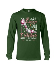 A Queen Was Born In October Long Sleeve Tee thumbnail