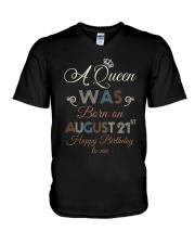 August 21st V-Neck T-Shirt thumbnail