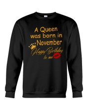 A Queen Was Born In November Crewneck Sweatshirt thumbnail