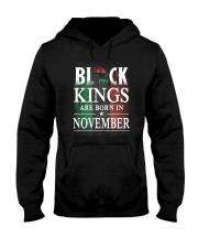 Black Kings Are Born In November Hooded Sweatshirt thumbnail