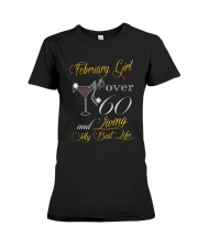 February Girl Over 60 And Living My Best Life Premium Fit Ladies Tee thumbnail