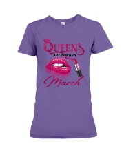 A Queen Was Born In March Premium Fit Ladies Tee thumbnail
