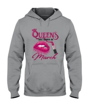 A Queen Was Born In March Hooded Sweatshirt thumbnail