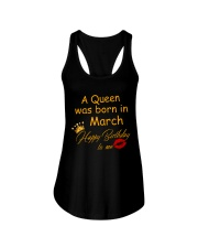 A Queen Was Born In March Ladies Flowy Tank thumbnail