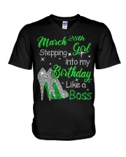 MARCH GIRL V-Neck T-Shirt thumbnail