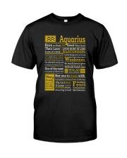AQUARIUS Classic T-Shirt front