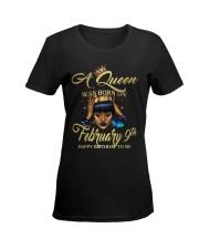 FEBRUARY QUEEN Ladies T-Shirt women-premium-crewneck-shirt-front