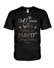 May 17th V-Neck T-Shirt thumbnail