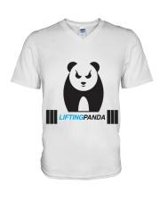 Lifting Panda V-Neck T-Shirt thumbnail