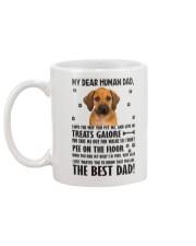 Human Dad Rhodesian Ridgeback Mug back