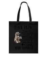 Dear Papa Elephant Tote Bag thumbnail