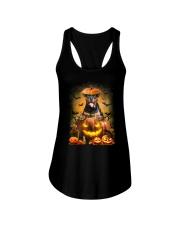 Rottweiler And Pumpkin Ladies Flowy Tank thumbnail