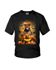 Rottweiler And Pumpkin Youth T-Shirt thumbnail