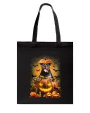 Rottweiler And Pumpkin Tote Bag thumbnail