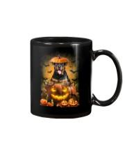 Rottweiler And Pumpkin Mug thumbnail