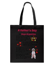 Poem From Dogo Argentino Tote Bag thumbnail