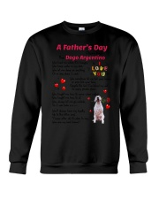 Poem From Dogo Argentino Crewneck Sweatshirt thumbnail
