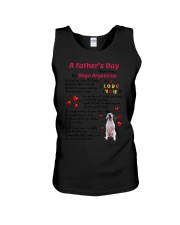 Poem From Dogo Argentino Unisex Tank tile