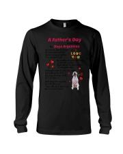 Poem From Dogo Argentino Long Sleeve Tee thumbnail