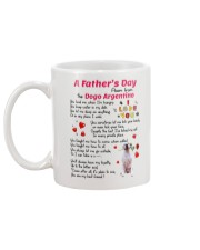 Poem From Dogo Argentino Mug back