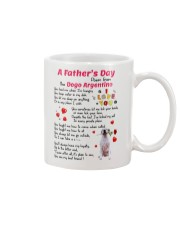 Poem From Dogo Argentino Mug front