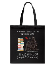 Books And Black Cat Tote Bag thumbnail