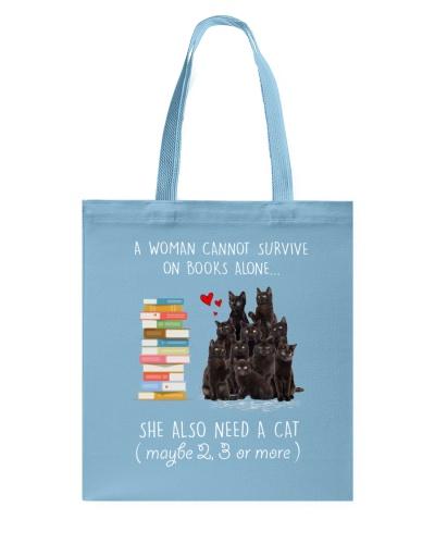 Books And Black Cat