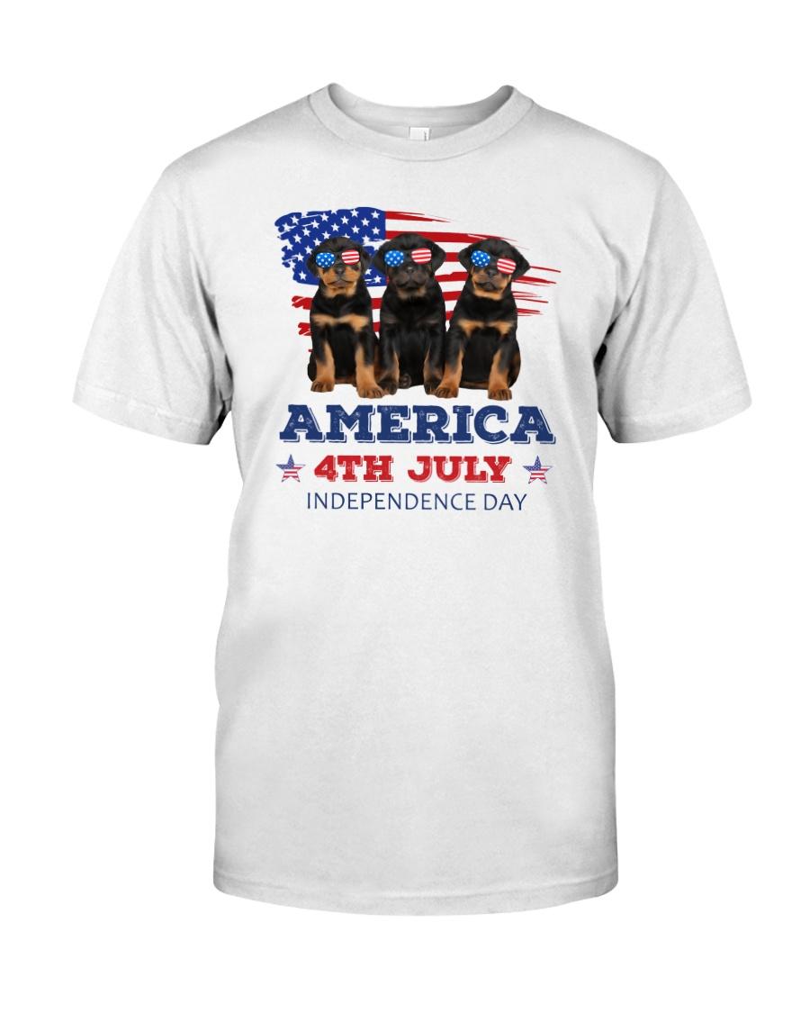 4th July Rottweiler Classic T-Shirt