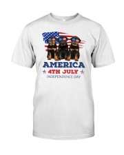 4th July Rottweiler Classic T-Shirt front