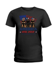 4th July Rottweiler Ladies T-Shirt thumbnail