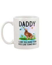 Daddy I Love You More Golden Retriever Mug back