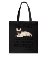 Daddy French Bulldog Tote Bag tile