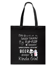 Unicorn Sassy Girl Tote Bag thumbnail