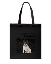 French Bulldog Anatomy Tote Bag thumbnail
