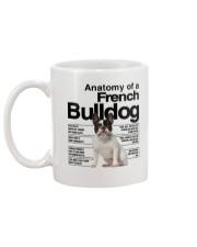 French Bulldog Anatomy Mug back
