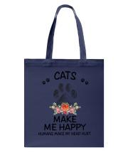 Cats Make Me Happy Tote Bag thumbnail