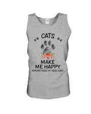 Cats Make Me Happy Unisex Tank thumbnail