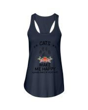 Cats Make Me Happy Ladies Flowy Tank thumbnail