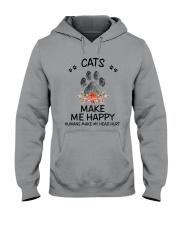 Cats Make Me Happy Hooded Sweatshirt thumbnail