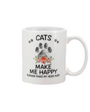 Cats Make Me Happy Mug thumbnail