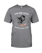 Unicorn Happily Ever After Classic T-Shirt front