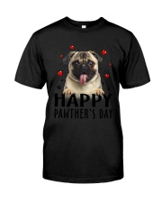 Pug Happy Pawther Day Classic T-Shirt thumbnail
