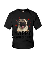 Pug Happy Pawther Day Youth T-Shirt thumbnail