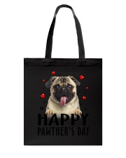 Pug Happy Pawther Day Tote Bag thumbnail