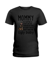 Rottweiler Ugly Baby Ladies T-Shirt thumbnail