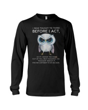 Think Before Act Owl Long Sleeve Tee tile